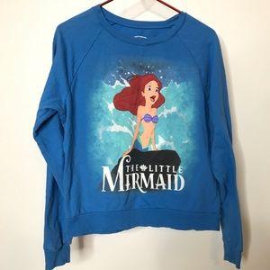 Disney The Little Mermaid Distressed Sweatshirt L